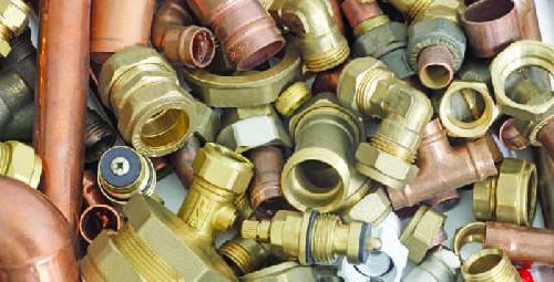 plumbing scrap materials