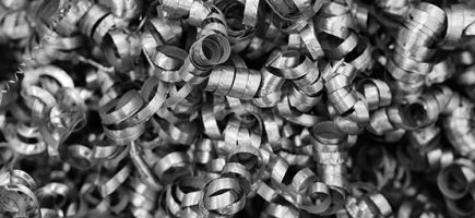 industrial scrap metal shavings