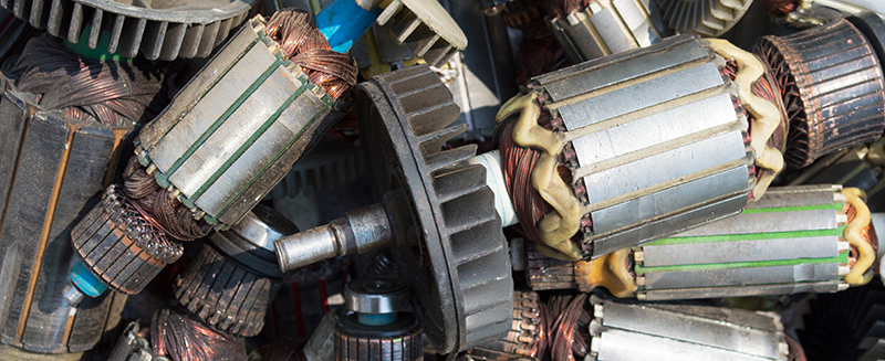electric motor recycling, ed arnold scrap processors