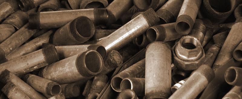 galvanized pipe recycling, ed arnold scrap